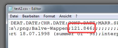 Excel exportiert das Datum mit versetztem Tausendertrennzeichen