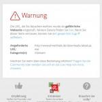 Malware Warnung beim Downloadversuch